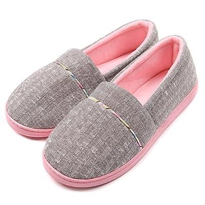 ChicNChic Women Comfortable Cotton Knit Anti-Slip House Slipper Washable Slip-On Home Shoes