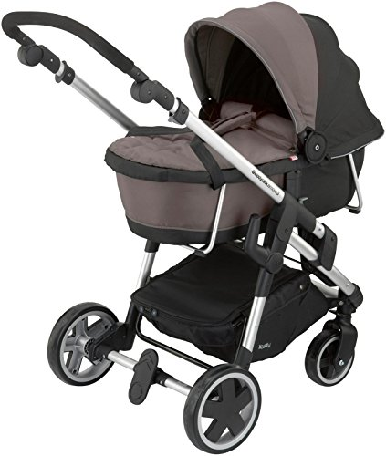 Kiddy Click 'n Move 3 Carrycot - Walnut by Kiddy