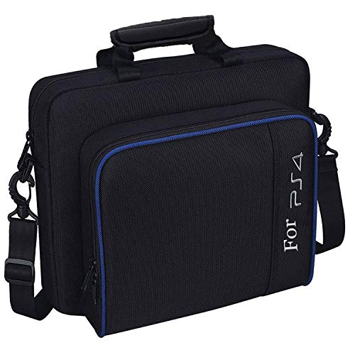 New Carrying Case for PS4, Popmall Hard Multifunctional Travel Storage Carry Case Protective Shoulder Bag for PlayStation4 PS4 Slim System Console Accessories