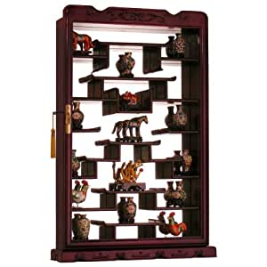 kitchen wall display cabinets rosewood wall curio display cabinet 6418