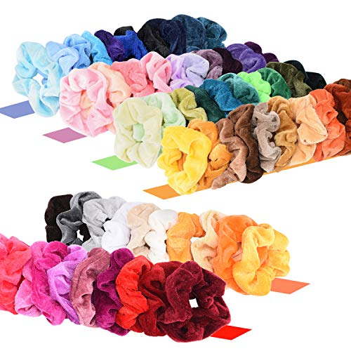 60 pcs premium velvet hair scrunchies tiendamia com