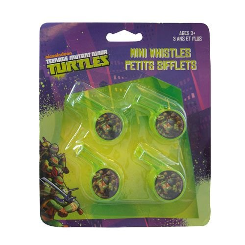 [Teenage Mutant Ninja Turtles 4pk Mini Whistles] (Nickelodeon Teenage Mutant Ninja Turtles Treat Bags)