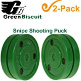 Green Biscuit Combo/2-Packs, Hockey Training Pucks (Color/Style Choice)