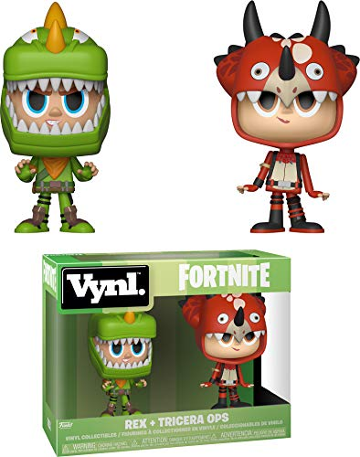 Funko 35273 VYNL 4 2-Pack Fortnite Rex & Tricera Ops, Multi