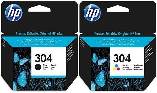 HP 304 Schwarz /& Farbe Original Druckerpatrone f/ür HP Deskjet