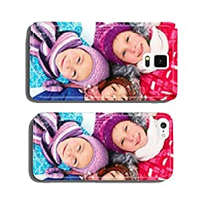 children lie on the snow in winter and look upwards cell phone cover case iPhone6 Plus