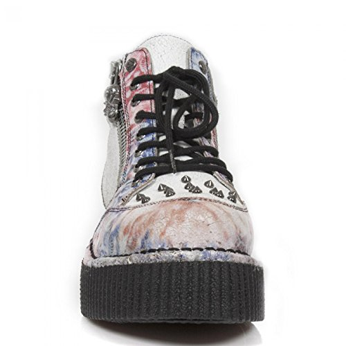 New Rock Boots M.crp002-s7 Punk Rampicante Unisex Sneeker Arancione