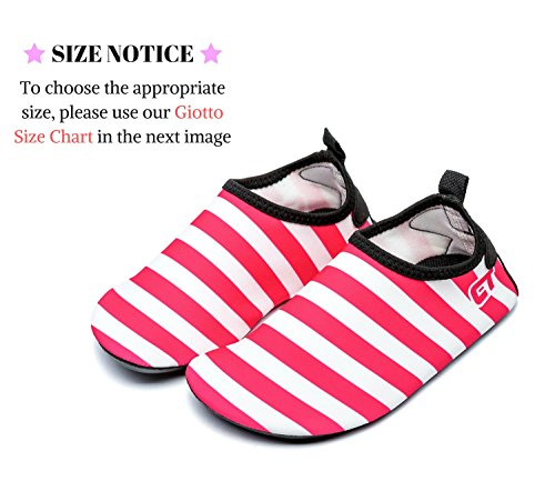Giotto Wassersport Barefoot Aerobic Schuhe Leichte Quick-Dry Aqua Socken für Beach Pool Swim Yoga B2-rot