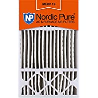 Nordic Pure 16x25x5 (4-3/8 Actual Depth) MERV 15 Honeywell Replacement Pleated AC Furnace Air Filter, Box of 4