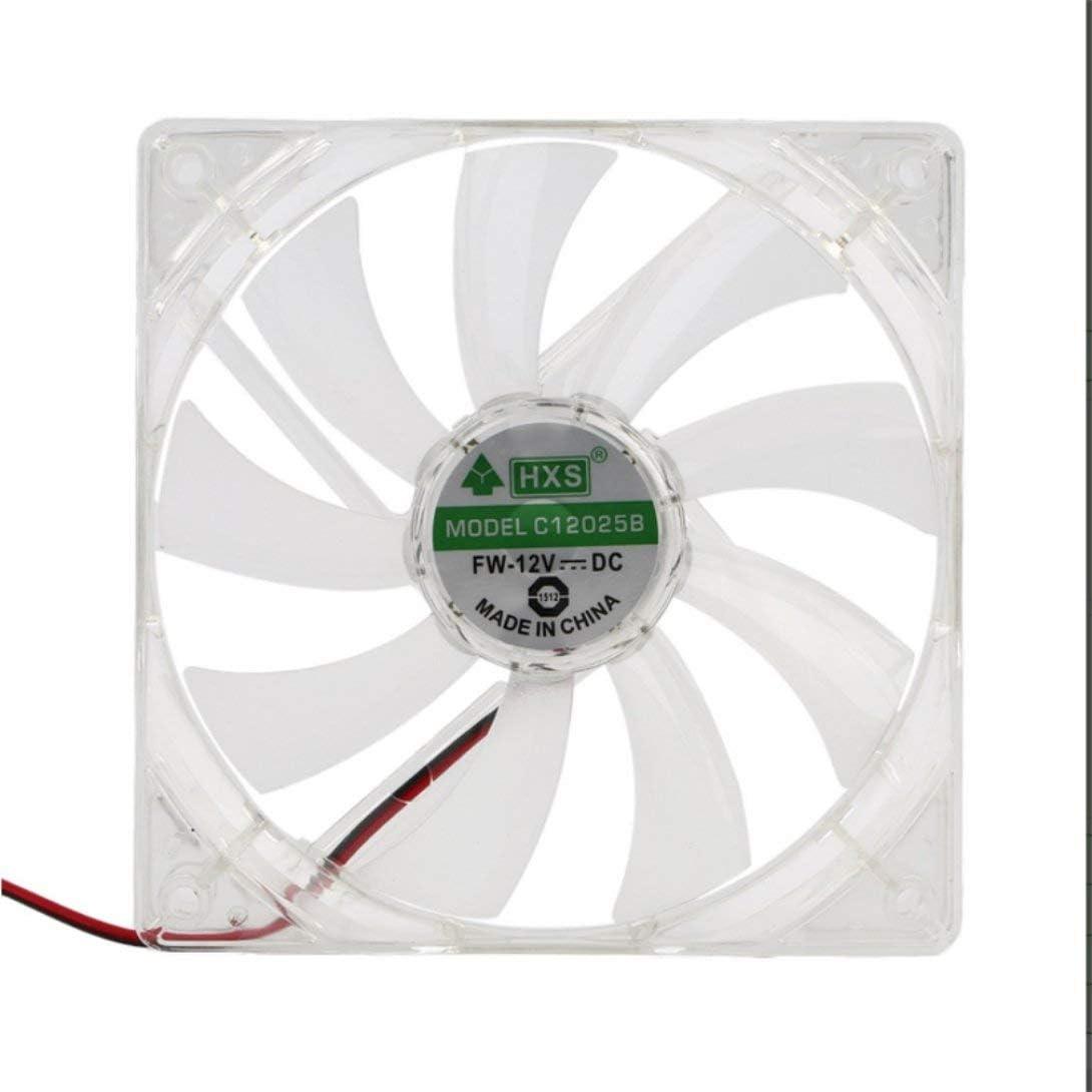 Swiftswan Pc Computer-Ventilator Quad 4 LED-Licht 120mm PC-Computer-Kasten K/ühlventilator Mod Quiet Molex Stecker Easy installierten L/üfter 12V
