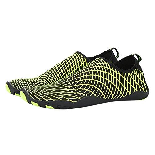 Qlan Barefoot Aqua Water Shoes Beach Swimming Quick Drying Slip On Yoga Shoes Skin Socks for Unisex Green xGtVUoR