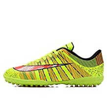 Kids Turf Trainers Football Boots Indoor Sport Lace Up Soccer Shoes