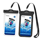 MoKo Waterproof Case for iPhone X iPhone XS iPhone Xr iPhone 8 iPhone 7 iPhone 6S Plus Samsung Galaxy S9 Samsung S8 Plus Samsung S7 Edge Samsung S6 Huawei, Black/White