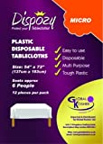 High Quality Disposable Clear Plastic Table Covers 54
