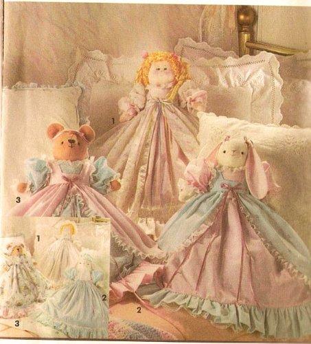 (Simplicity 8210 Topsy Turvy Doll Bear Bunny Craft Pattern)