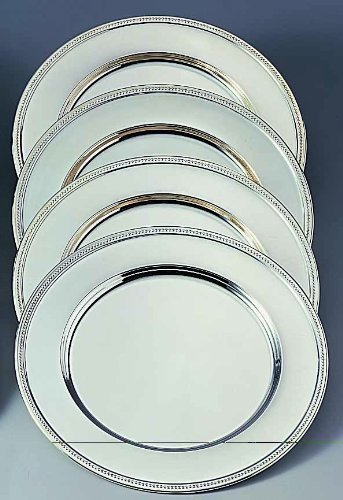 (Elegance Silver 82526 Nickel Plated Charger Plate, 12 by Elegance Silver)