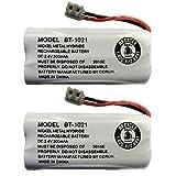 New Genuine OEM Uniden BT-1021 BBTG0798001 Cordless Handset Rechargeable Battery (2-Pack)