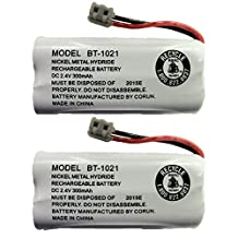 New Genuine OEM Uniden BT-1021 BBTG0798001 Cordless Handset Rechargeable Battery (2-Pack)