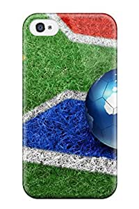 Flexible Tpu Back Case Cover For Iphone 4/4s - South Africa 2010 Earth Planet Flag Fifa Football Soccer People Sports