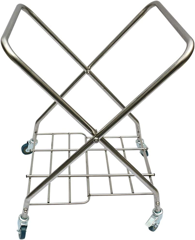 ZXY-NAN Hairdresser Trolley On Wheels Tool Folding Laundry Sorter Cart with Universal Brake Wheel Yellow Removable Cover Room Service Rolling Cart Hotel Collection Trolley