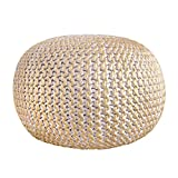 Twisted Casual Hand Knitted Cotton Living Disco Cables Pouf   Cotton