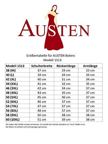 Austen - 1513 Bolero novia suéter blanco _AONEWLINEAO_ 38 - 60 gr. blanco
