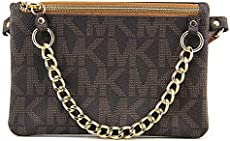 55b576155ea6 Michael Kors Brown MK Signature Fanny Pack Belt Bag Small UPC 884585656407