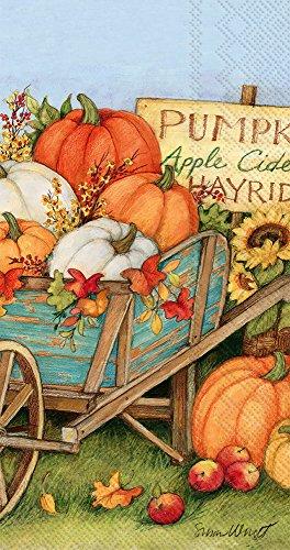 Ideal Home Range 32 Count 3-Ply Paper Guest Towel Buffet Napkins, Pumpkin Crop