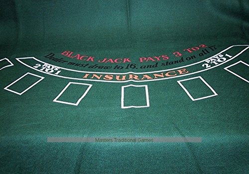Masters Traditional Games Blackjack Cloth