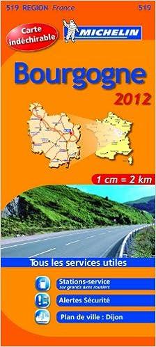 Lire un Carte REGION Bourgogne 2012 epub pdf