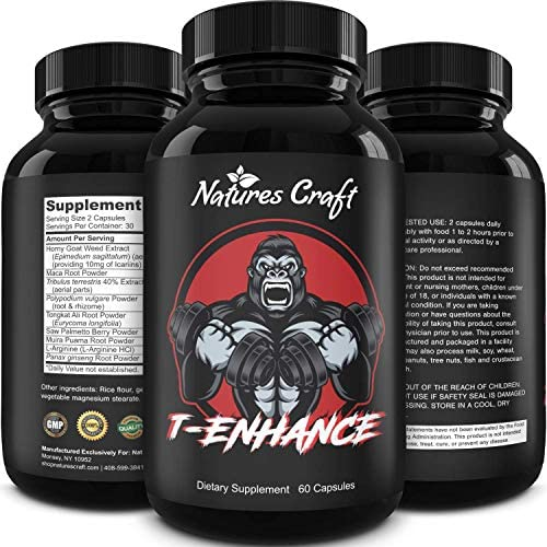 Best Natural Testosterone Booster for Men – Male Enhancement Supplement Estrogen Blocker Energy Pills for Enlargement Muscle Builder Fat Burner and Mood Boost – Male Enhancing Energy Supplement