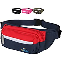 Pro Helios Premium Fanny Pack for Men & Women Water Resistant Waist Bag for Outdoor Activities, Traveling, Hiking, Biking, Running & More | Durable Zippered Pockets for iPhone & Accessories