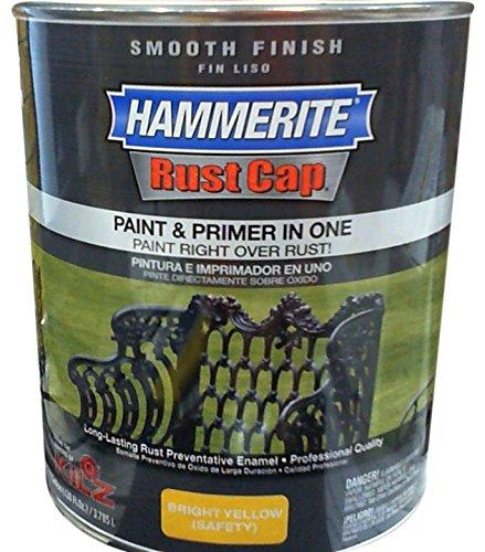 Masterchem 46215 Hammerite Rust Cap Smooth Yellow Enamel Paint, Gallon