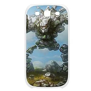 Malphite-004 League of Legends LoL For Case Samsung Galaxy S4 I9500 Cover Plastic White