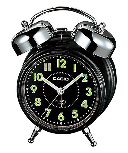 Casio Bedside Bell Snooze Black Alarm Clock TQ-362-1A