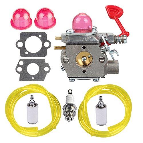 HIPA WT-875 Carburetor with Fuel Line Filter Spark Plug for Craftsman Poulan Pro Blower BVM200C BVM200VS P200C GBV325 P325 200mph (Carburetor Pro)