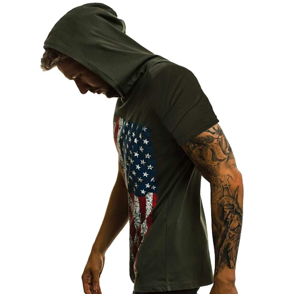 Shirt for Men F/_Gotal Mens T-Shirts Fashion Printed Hoodies Summer Short Sleeve Loose Fit Casual Tees Blouse Tops
