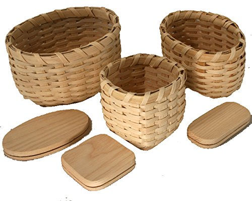 Snack Trio Basket Weaving Kit V.I. Reed & Cane Inc.