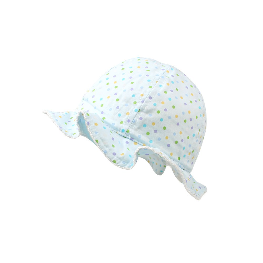 KASULAR Newborn Kids Hat Girls Travel In sunshade Hat Pure Cotton Breathable Sun Cap Spring Summer 6-18 Months(6-18 Months,blue)