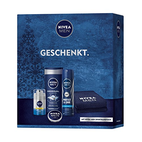 Nivea Men Geschenkset Energy fürs Gesicht, 1er Pack (1 x 4 Stück)