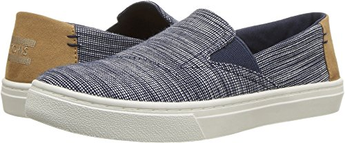 - TOMS Kids Unisex Luca (Little Kid/Big Kid) Navy Striped Chambray 3 M US Little Kid