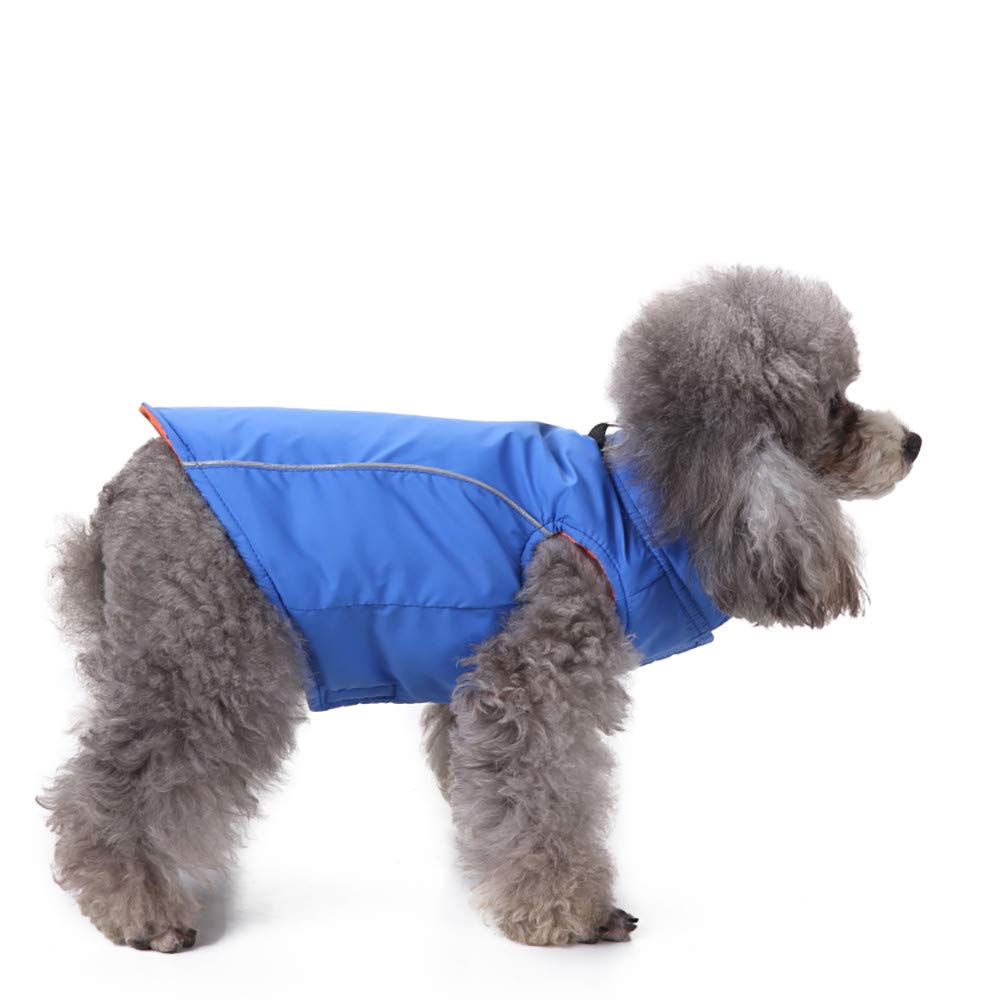 Glumes Cold Weather Dog Coats Loft Reversible Winter Fleece Dog Vest Waterproof Pet Jacket Available in Extra Small, Small, Medium, Large Sizes