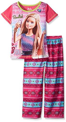 Barbie Girls Selfie 2 Piece Pajama Set, Sizes 4-12