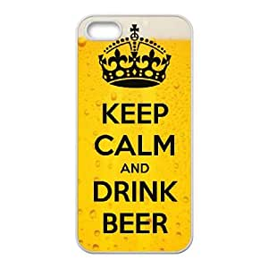 Keep Calm Drink Beer iPhone 4 4s Cell Phone Case White xlb-319230