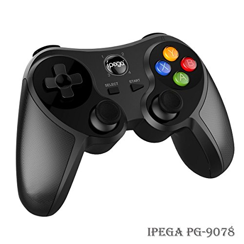 Android Bluetooth Gamepad – iPega PG-9078 Wireless Game Controller Joystick for Android Smartphone, Smart TV Box, Tablet, Samsung Galaxy, Google HTC Sony Huawei OnePlus, Gear VR Headset, Windows PC