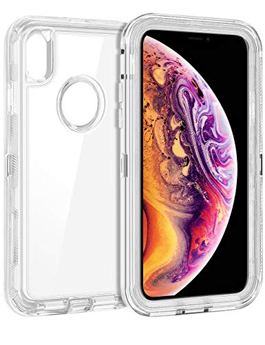 (Coolden Hybrid Clear Phone Case for iPhone Xs MAX (6.5
