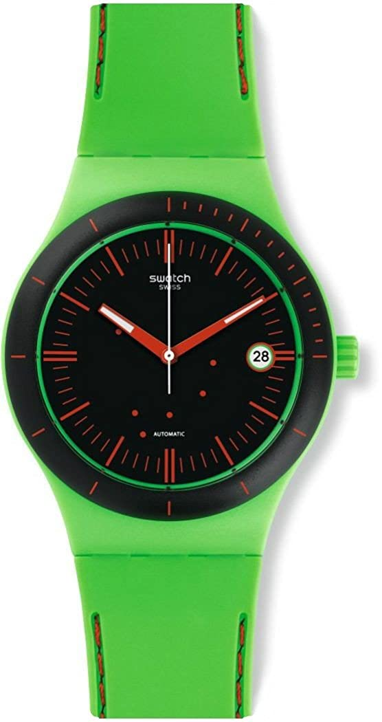 Amazon.com: Swatch SUTG401 Sistem 51 Sistem Frog Unisex Watch: Swatch: Watches