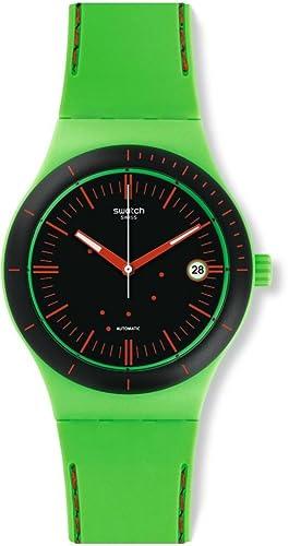 Swatch Reloj Digital para Hombre de Automático con Correa en Silicona SUTG401: Amazon.es: Relojes