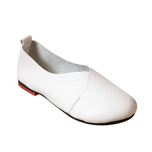 Socofy Zapatos Mocasines Cómodos Para Mujer realizados EN Piel Genuina, Planta Acolchada Para Total Confort y Comodidad EN Sus pies Ideales Para ...