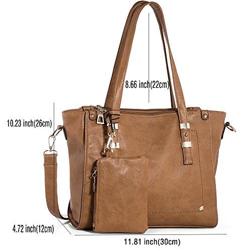 PU Bags Camel Tote Vintage IN Women Women Handbags Handbags ANGEL Shoulder Leather Large Purses Bags Shopper 1FCRw4Fq